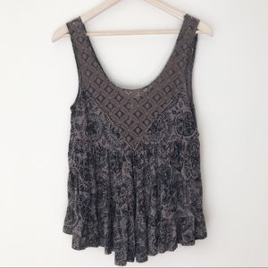 Free People Floral Boho Tank Top